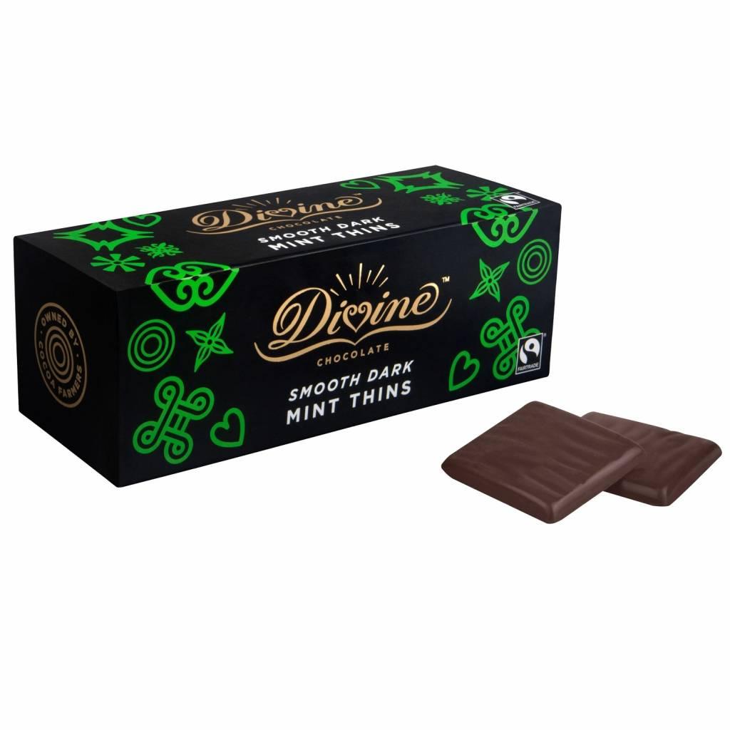 Divine Fairtrade Dark Choc Mint After Dinner Thins (200g) gallery image #1