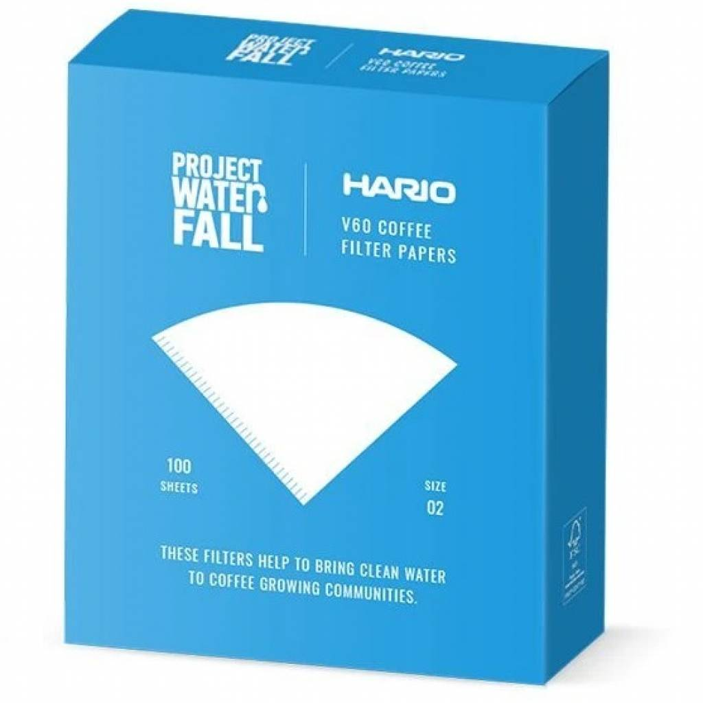 Hario X Project Waterfall V60 Filter Papers (100 pack) gallery image #1