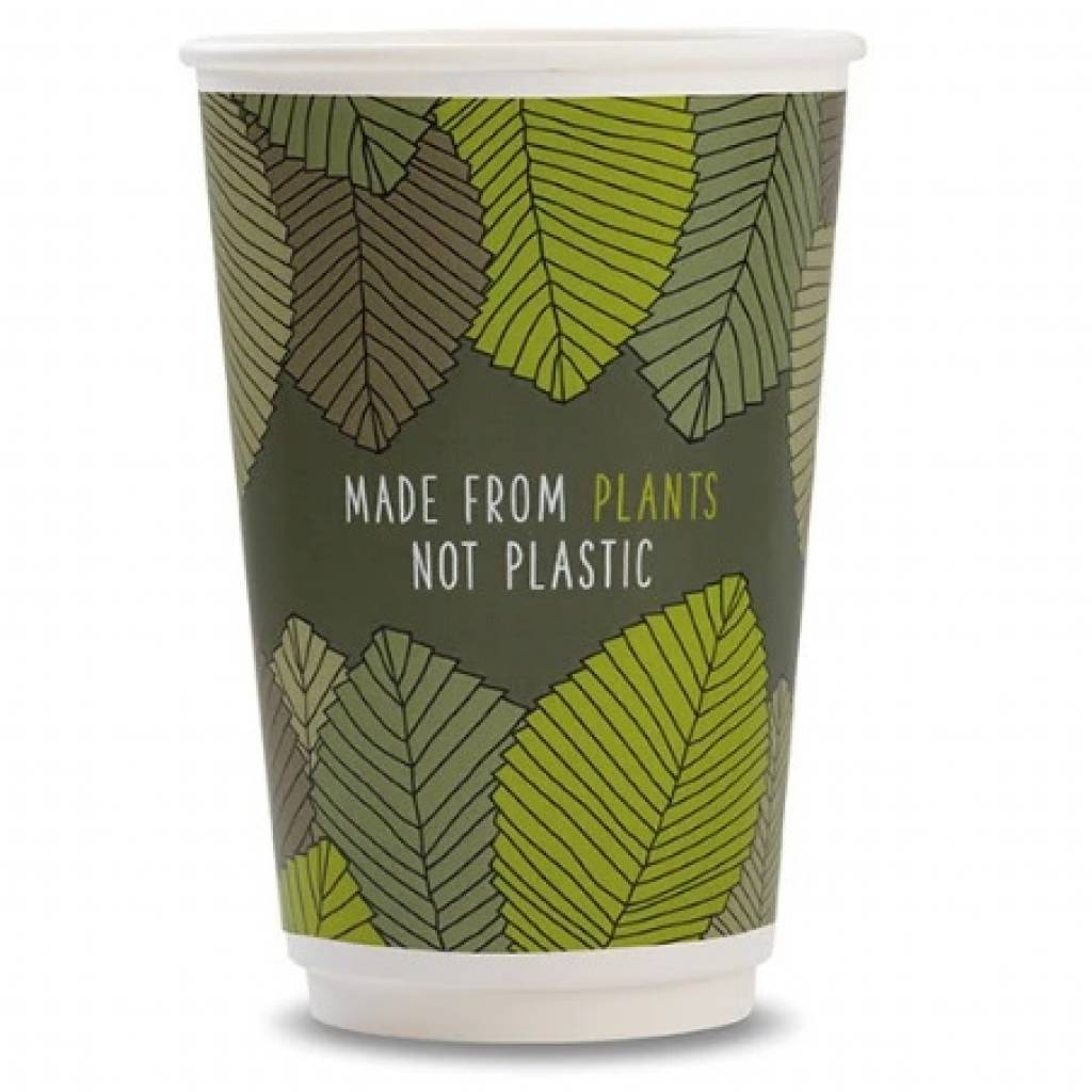 16oz Vegware Double Wall Cups (400) gallery image #1