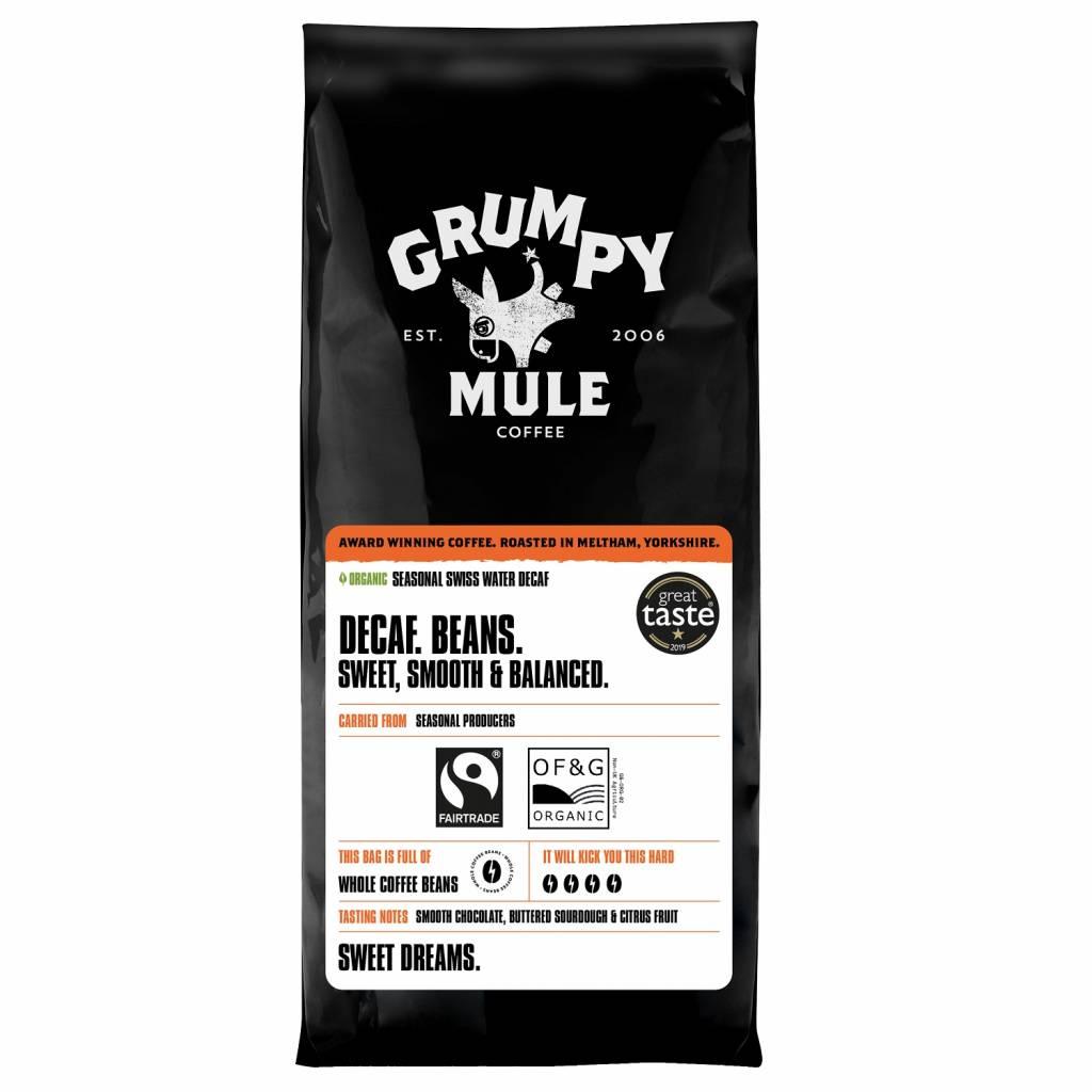 Grumpy Mule Decaf Fairtrade Espresso Beans (10x500g) gallery image #1