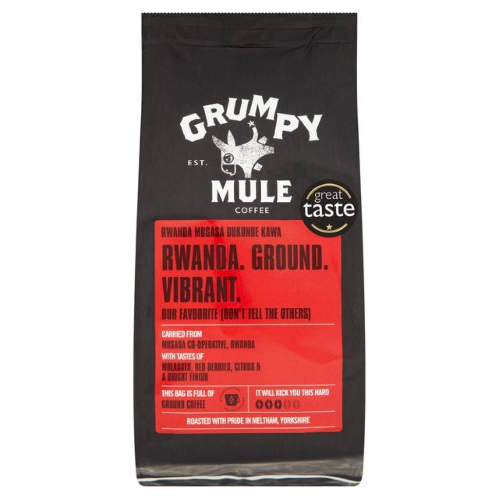 Grumpy Mule Rwanda Musasa Ground Coffee (6x227g) gallery image #1