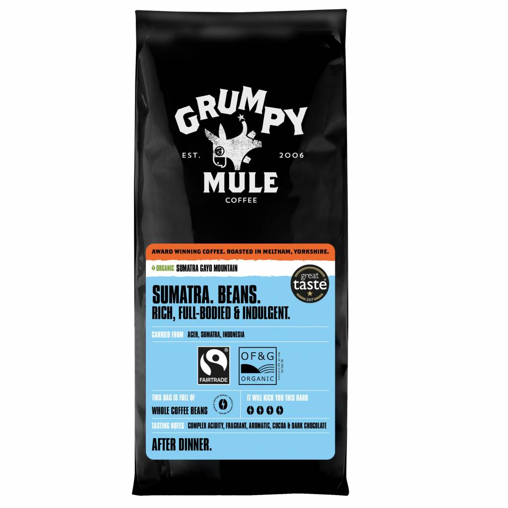 Grumpy Mule Sumatra Coffee Beans (227g) gallery image #1