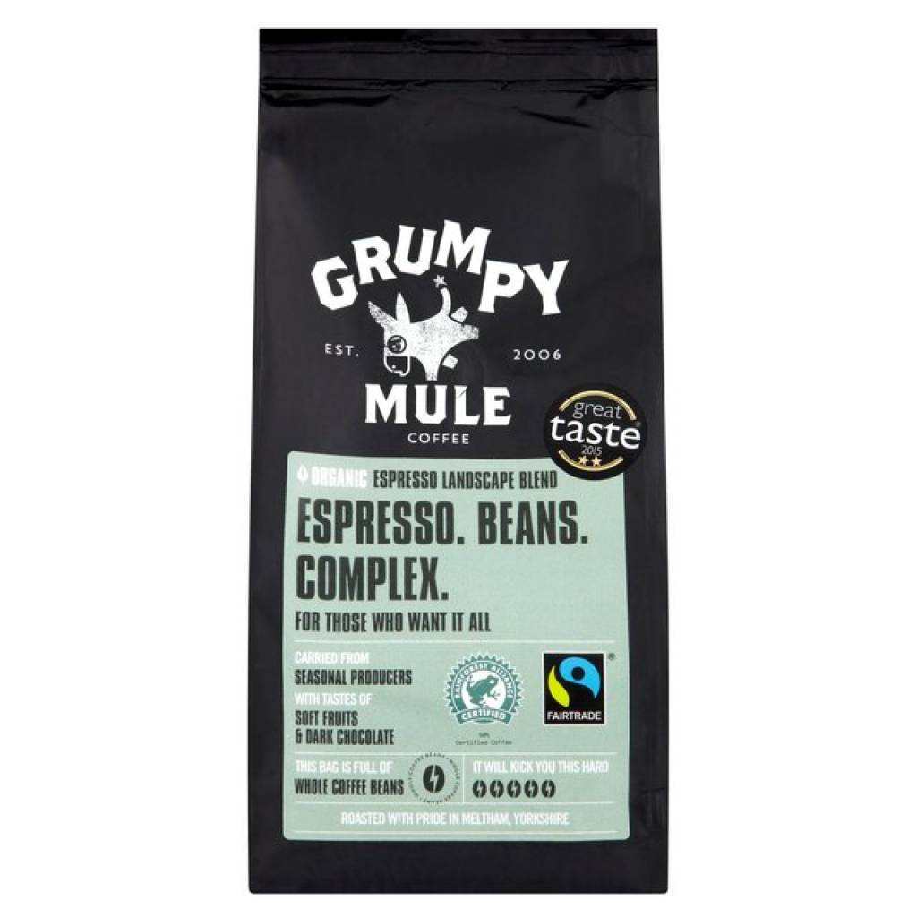 Grumpy Mule Organic Espresso Coffee Beans (6x227g) gallery image #1