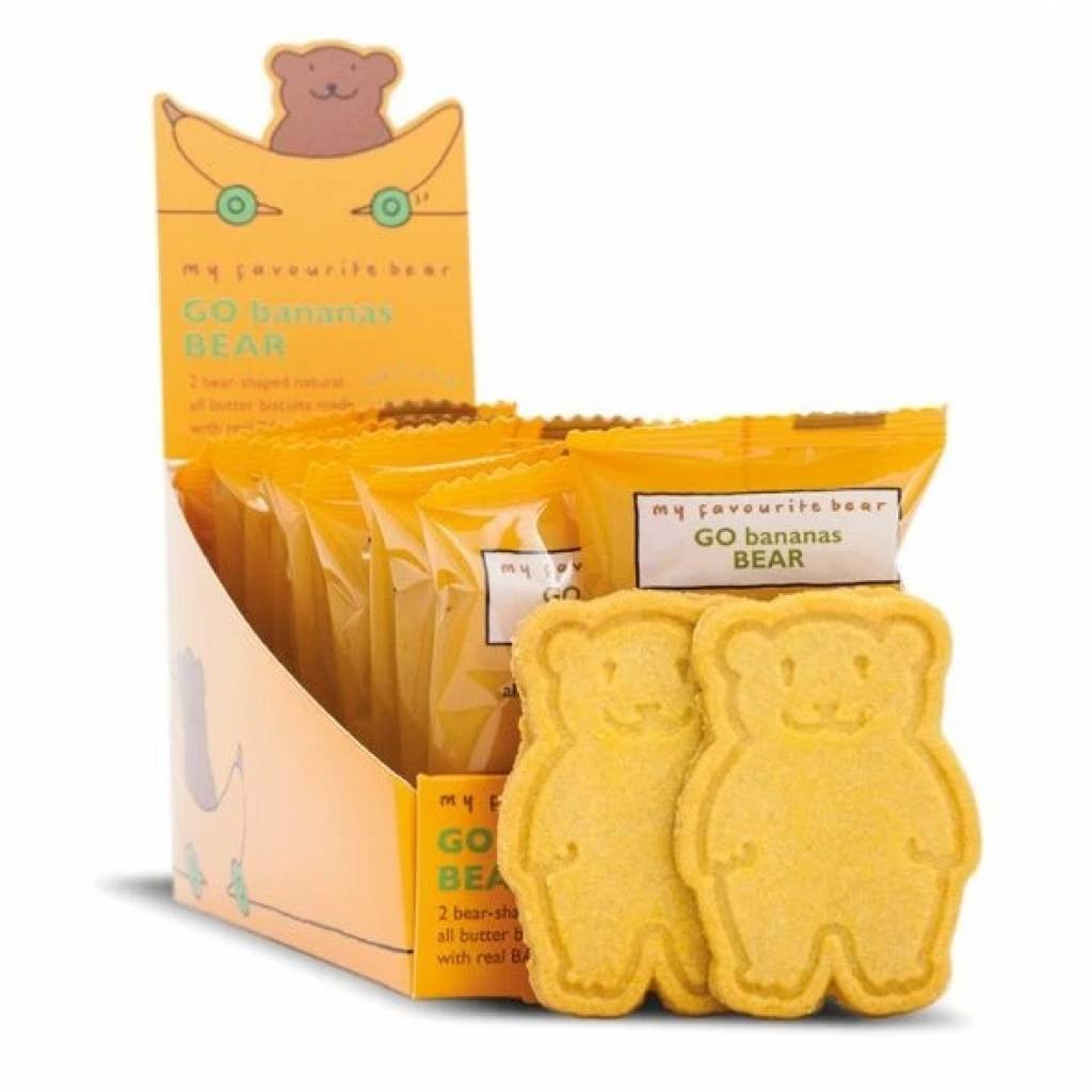 Go Banana Bear Twin Pack Biscuits (48x25g) gallery image #1