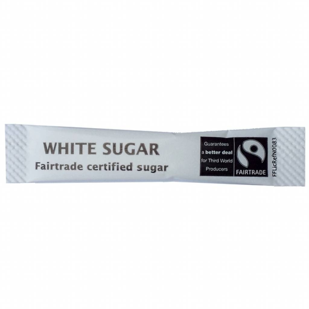 Fairtrade Sugar Sticks White (1000) gallery image #1