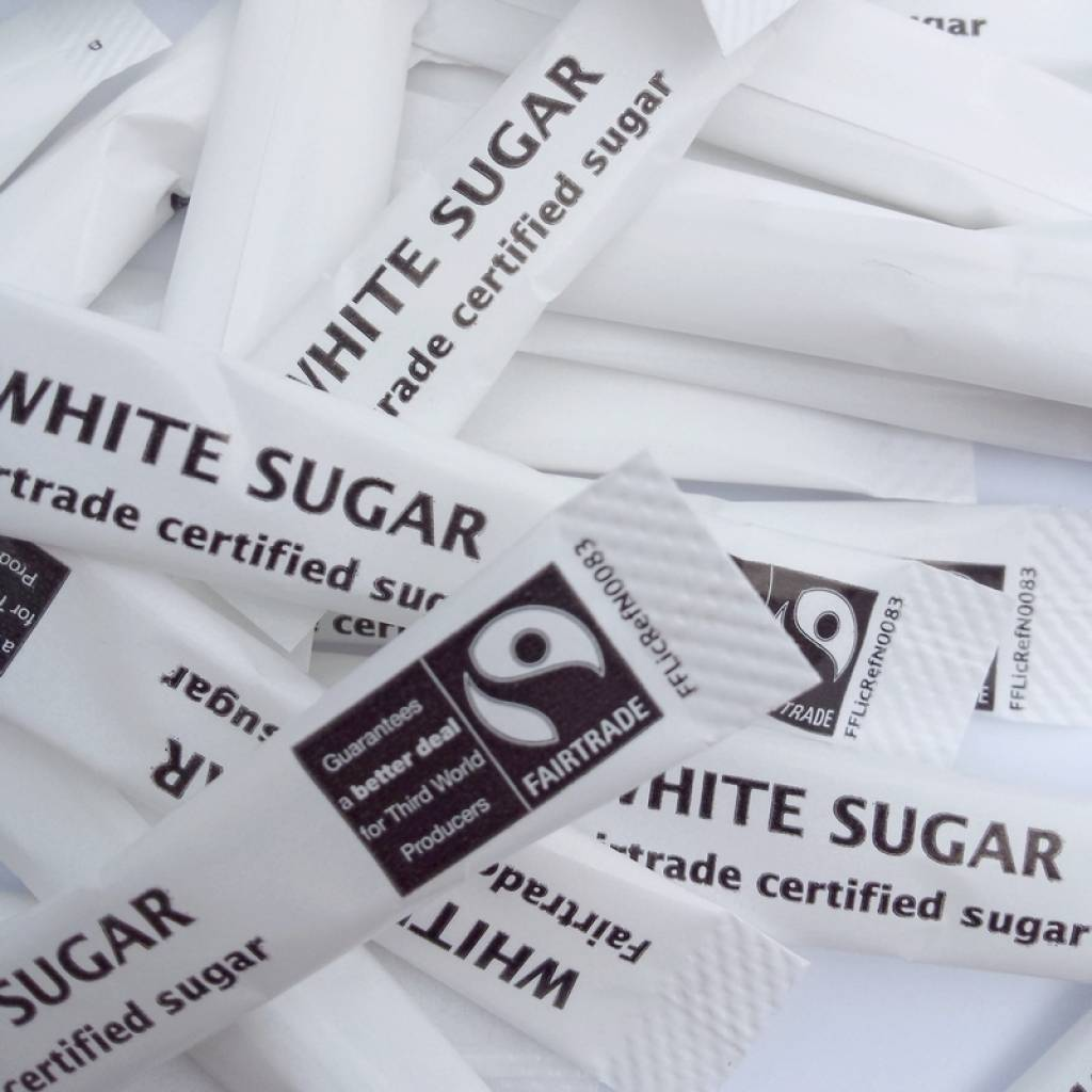 Fairtrade Sugar Sticks White (1000) gallery image #2