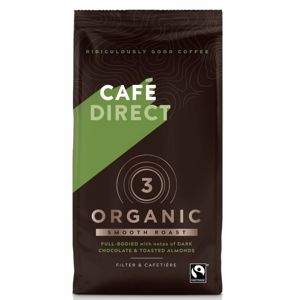 CafeDirect Smooth Roast Organic Blend Coffee (227g) gallery image #1