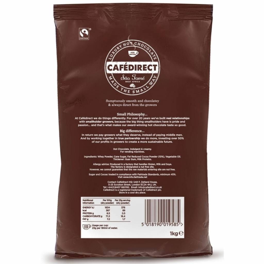 CafeDirect Hot Chocolate for Vending (10x1kg) gallery image #1