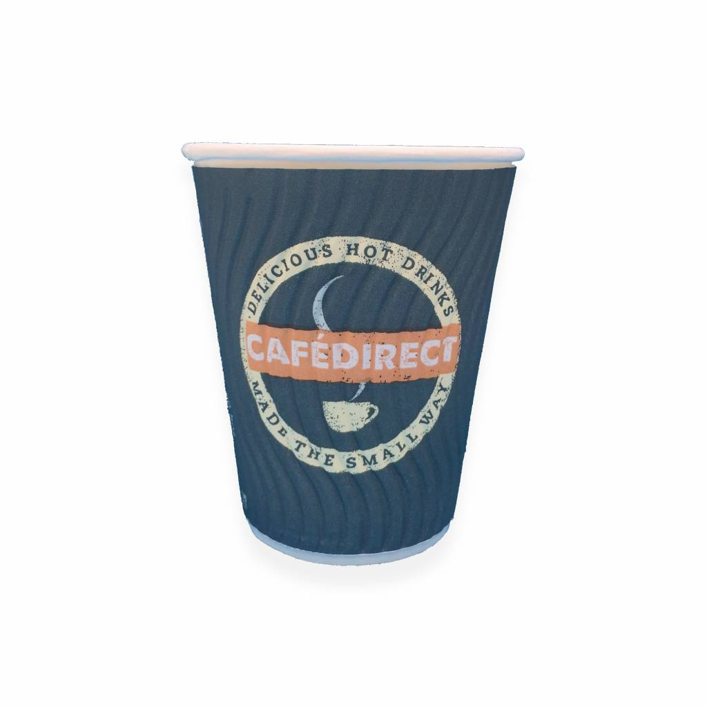 CafeDirect Branded Disposable 8oz Double Wall Cups gallery image #1