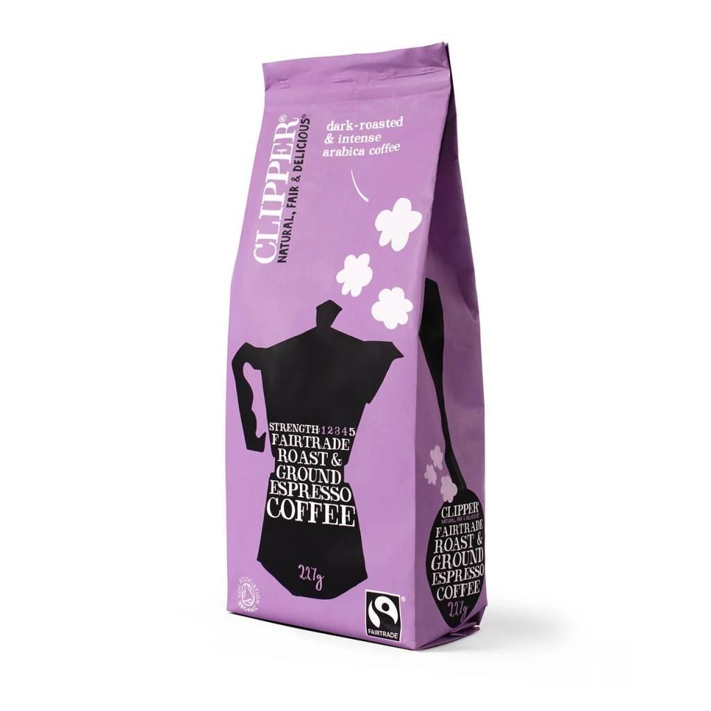 Clipper Fairtrade Organic Espresso Ground Coffee (8x227g) gallery image #1