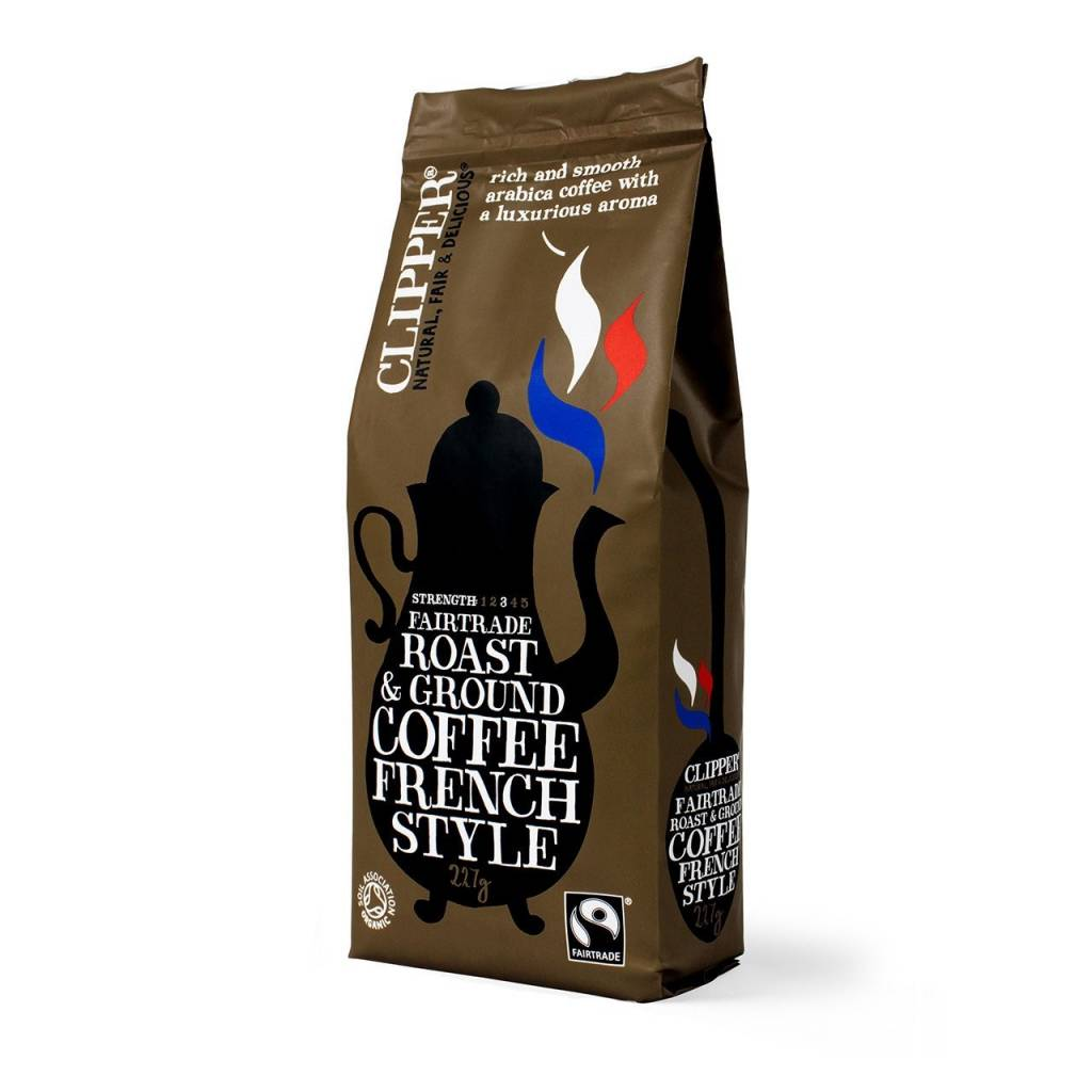 Clipper Fairtrade Organic French Style Ground Coffee (8x227g) gallery image #1
