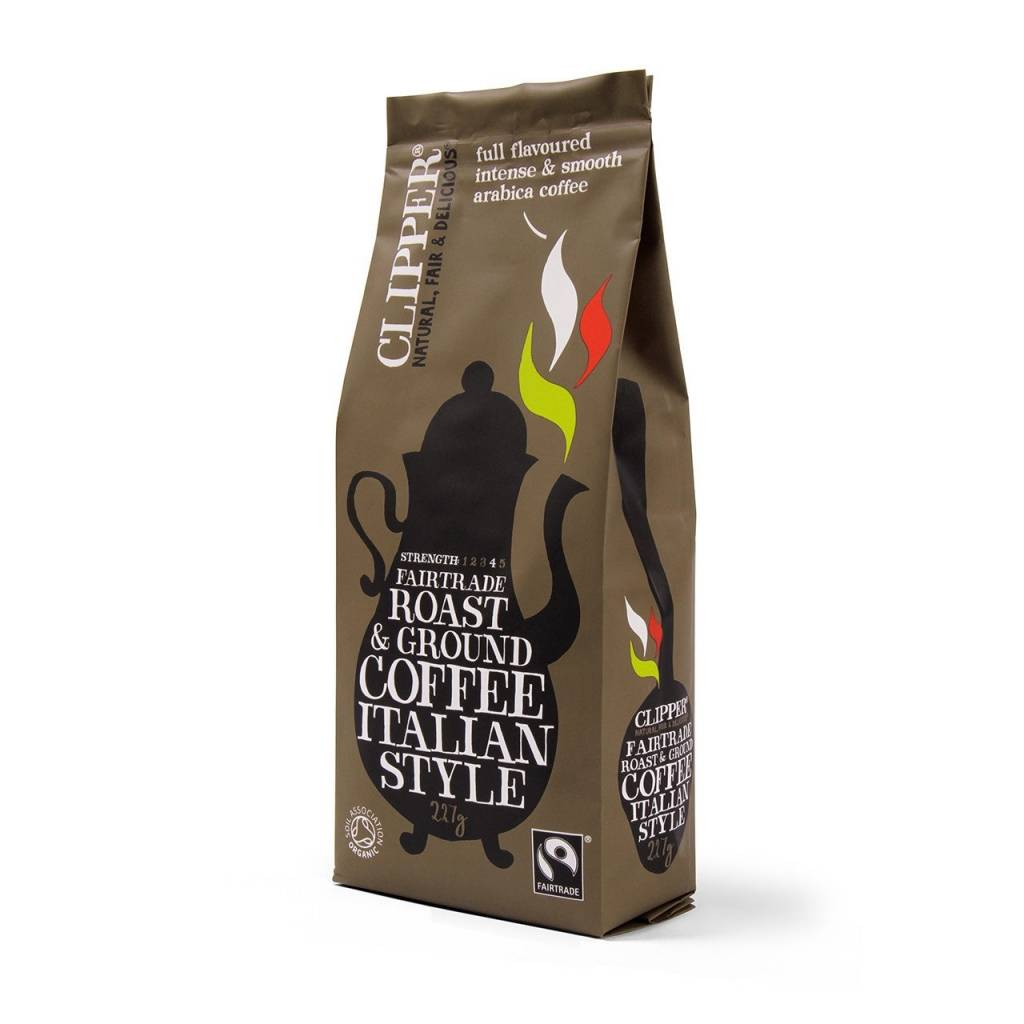 Clipper Fairtrade Organic Italian Ground Coffee (8x227g) gallery image #1