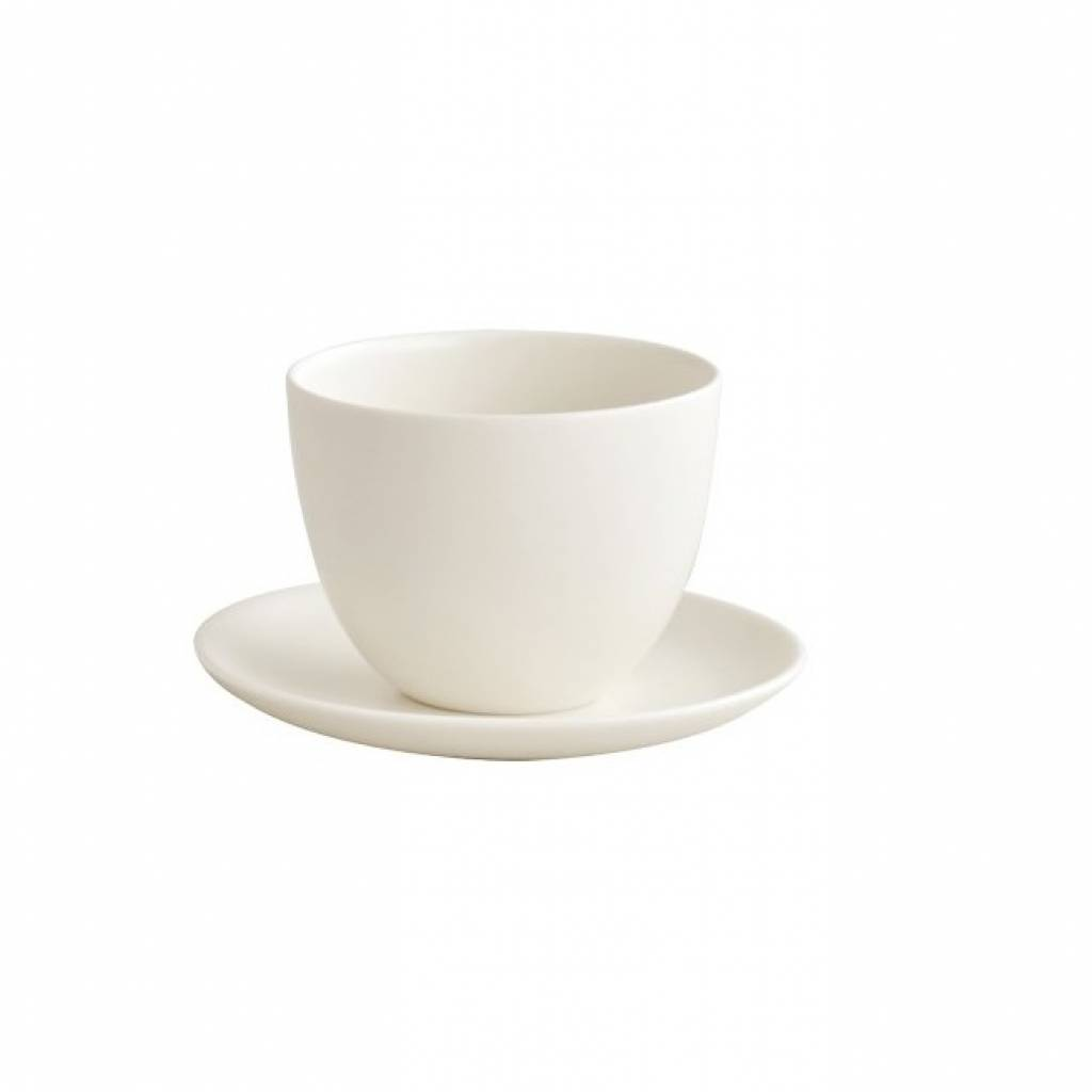 Kinto Pebble Cup and Saucer - White gallery image #2