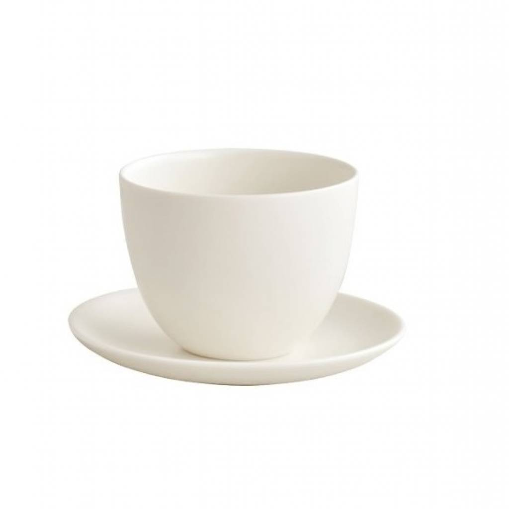 Kinto Pebble Cup and Saucer - White gallery image #1