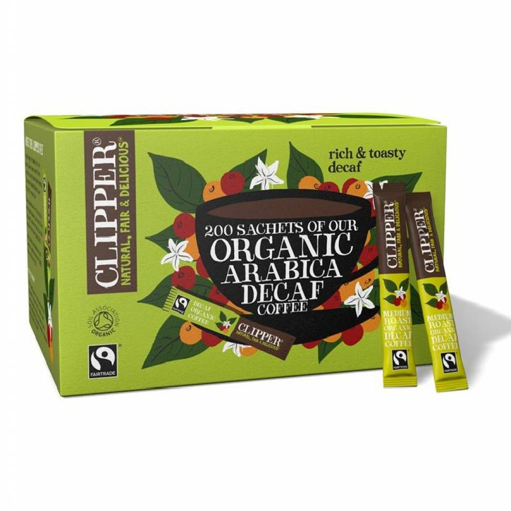 Clipper Fairtrade Organic Decaf Coffee (200 Sticks) gallery image #1