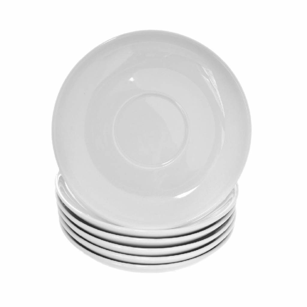 Classic White Ceramic Saucer (Box of 24) gallery image #1