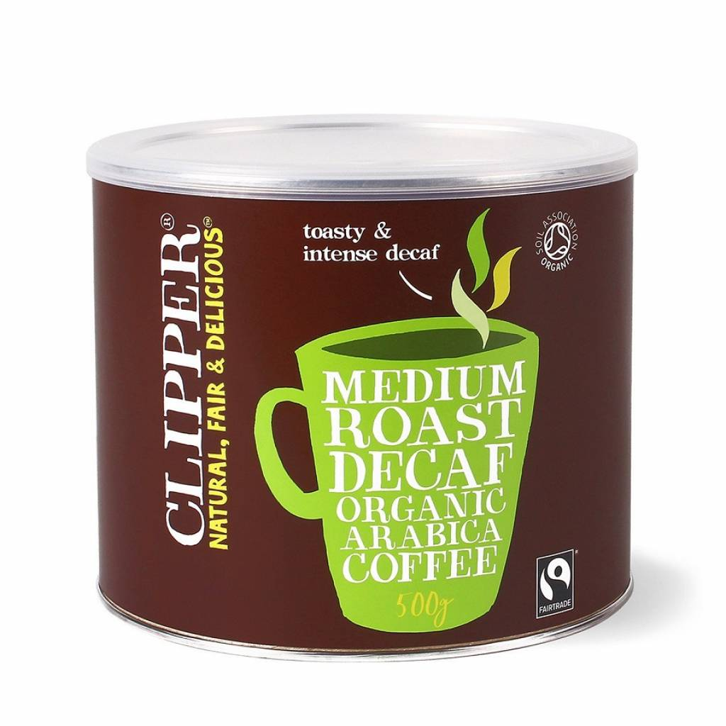 Clipper Fairtrade Medium Roast Decaf Instant Coffee (4x500g) gallery image #1