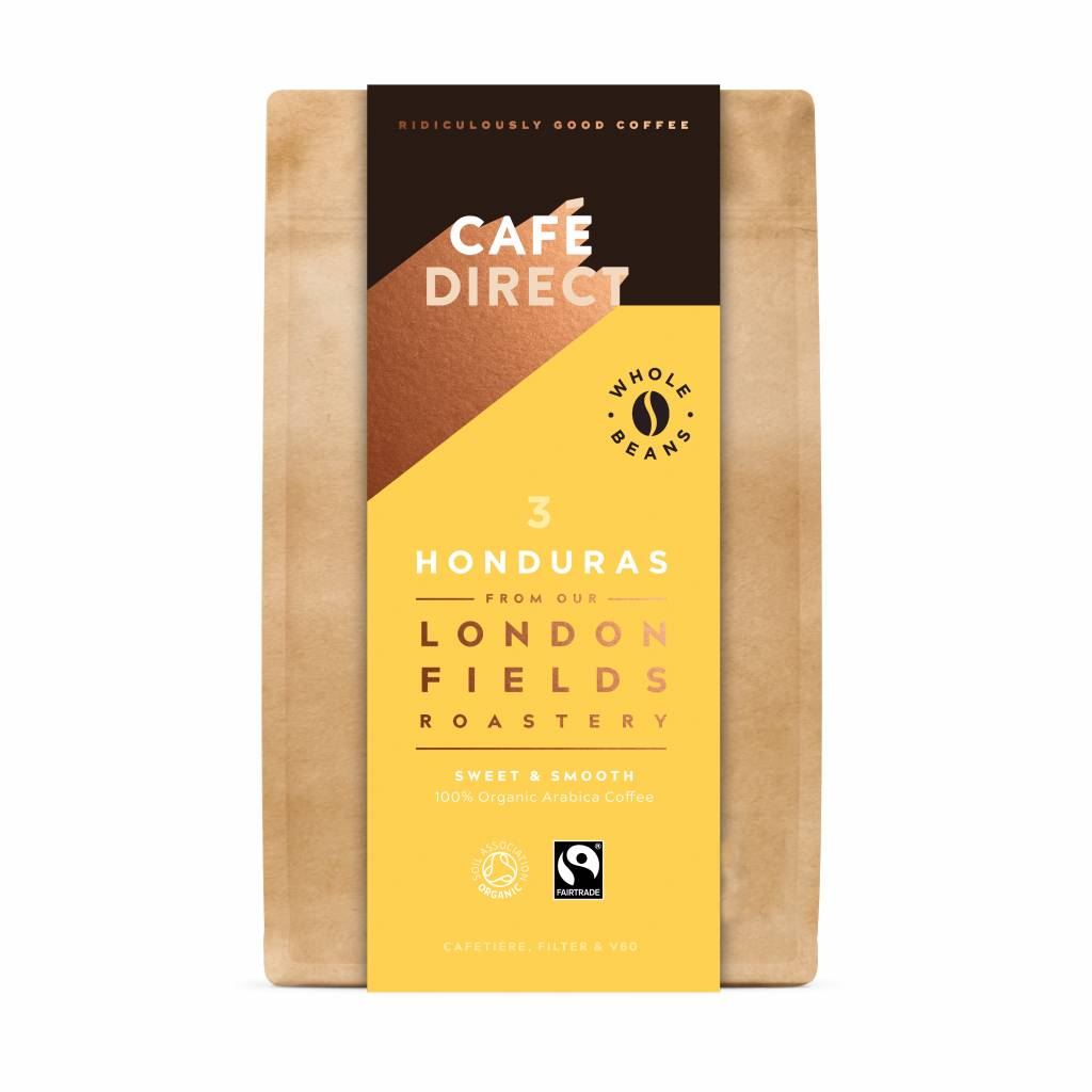 CafeDirect London Fields Honduras Organic Beans (6x200g) gallery image #1