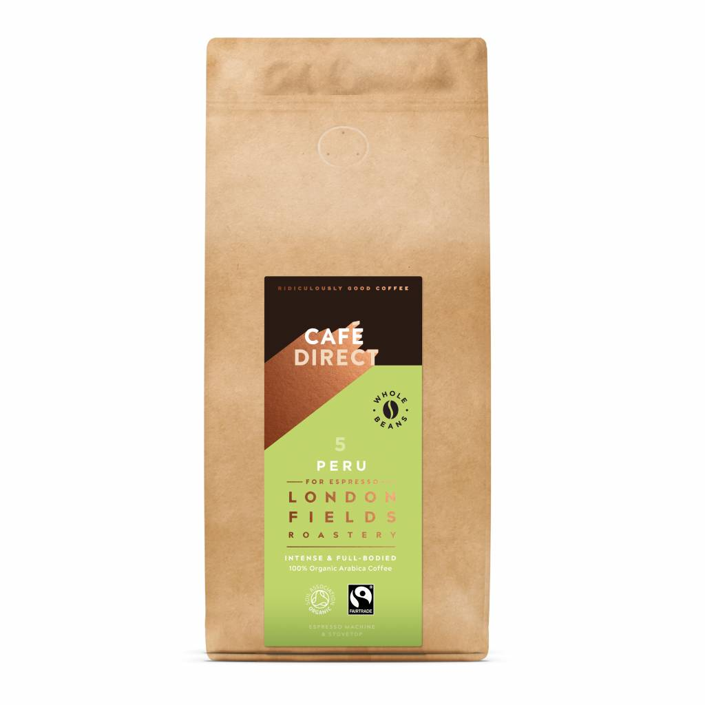 CafeDirect London Fields Peru Organic Beans (1kg) gallery image #1