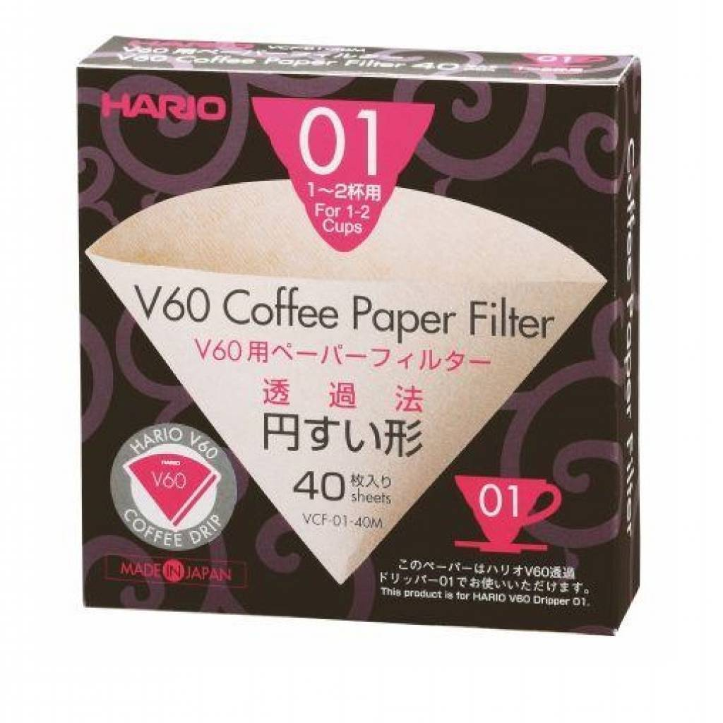Hario V60 Filter Papers 01 (40 Sheets) gallery image #1