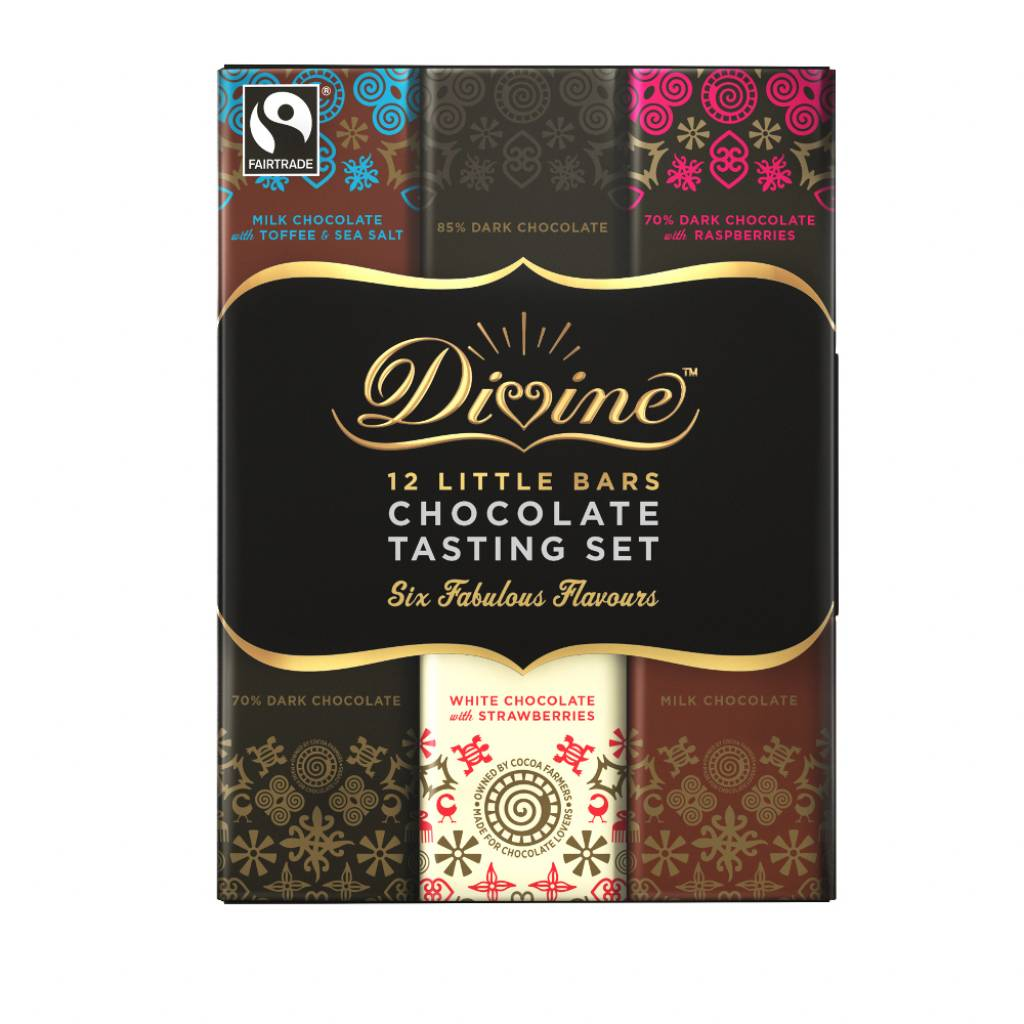Divine Chocolate Gift Taster Set (12x15g bars) gallery image #1