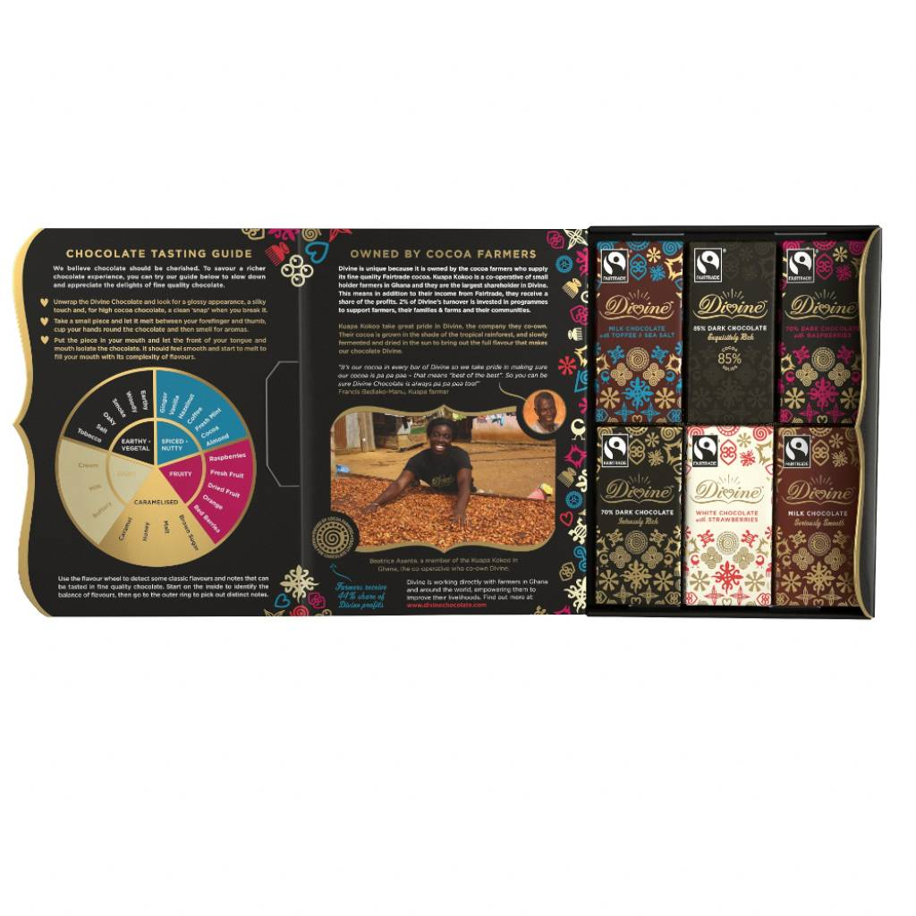 Divine Chocolate Gift Taster Set (12x15g bars) gallery image #2