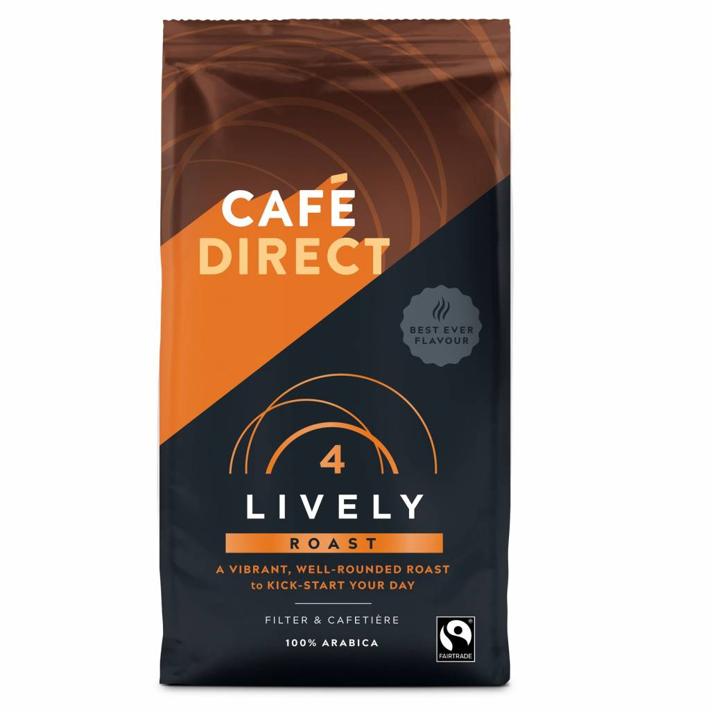 Cafedirect Lively Roast Ground Coffee (6x227g) gallery image #1