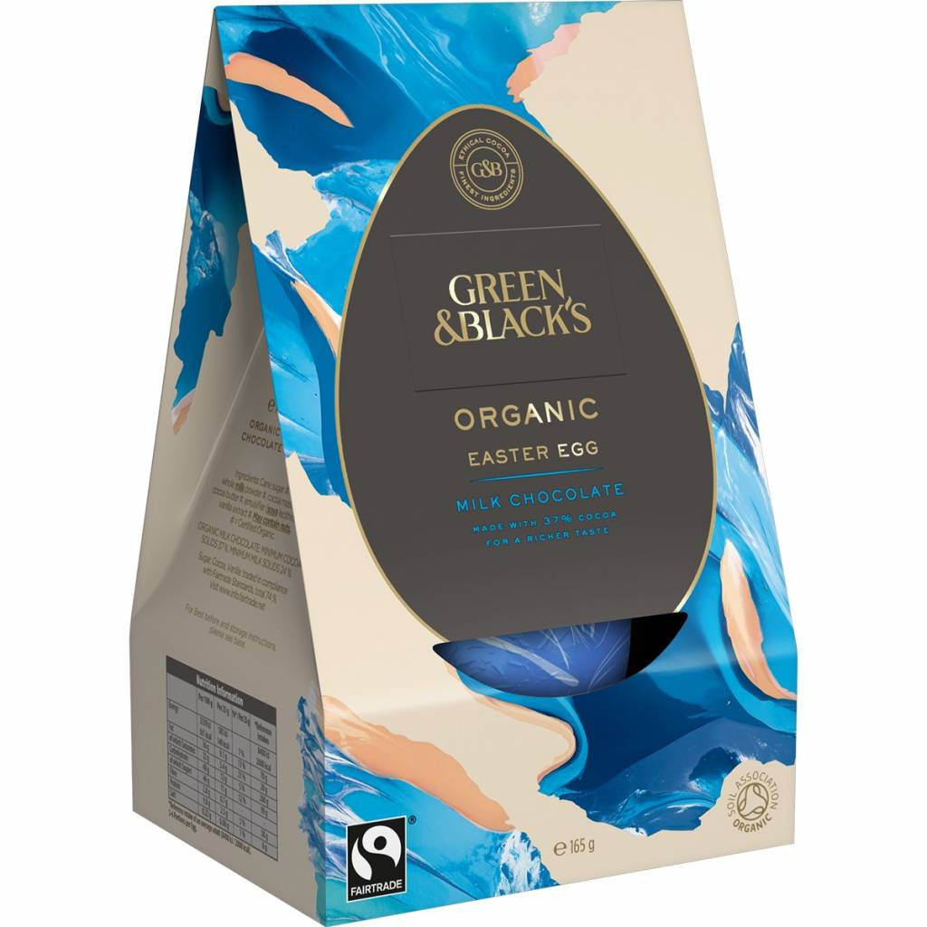 Green & Blacks Organic Thick-Shelled Milk Chocolate Egg (165g) gallery image #1