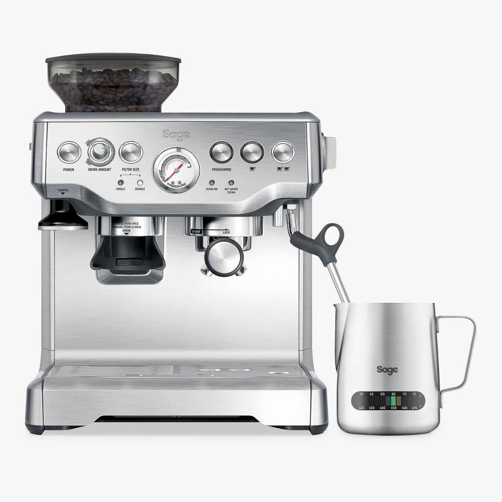 Sage Barista Express Bean-to-Cup Coffee Machine, Stainless Steel gallery image #1