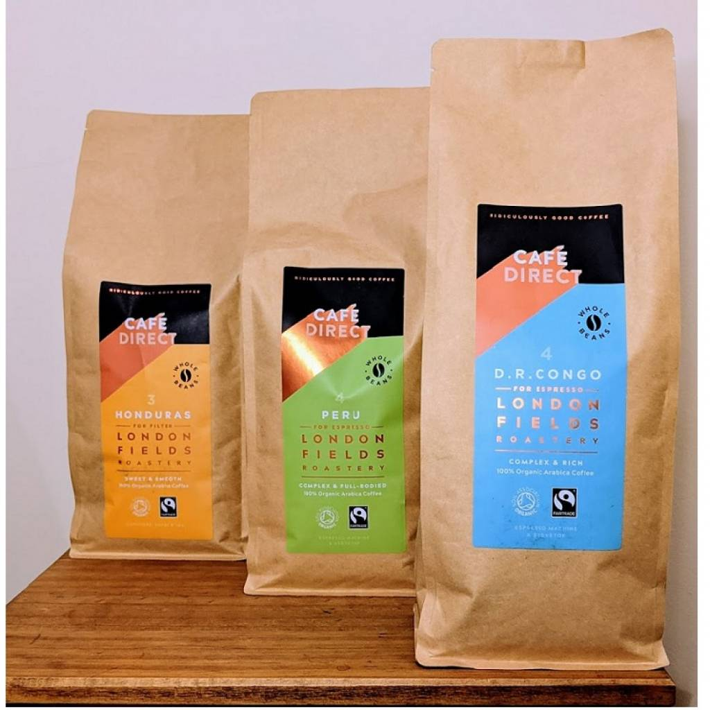 Cafedirect London Fields Coffee Beans Package gallery image #1