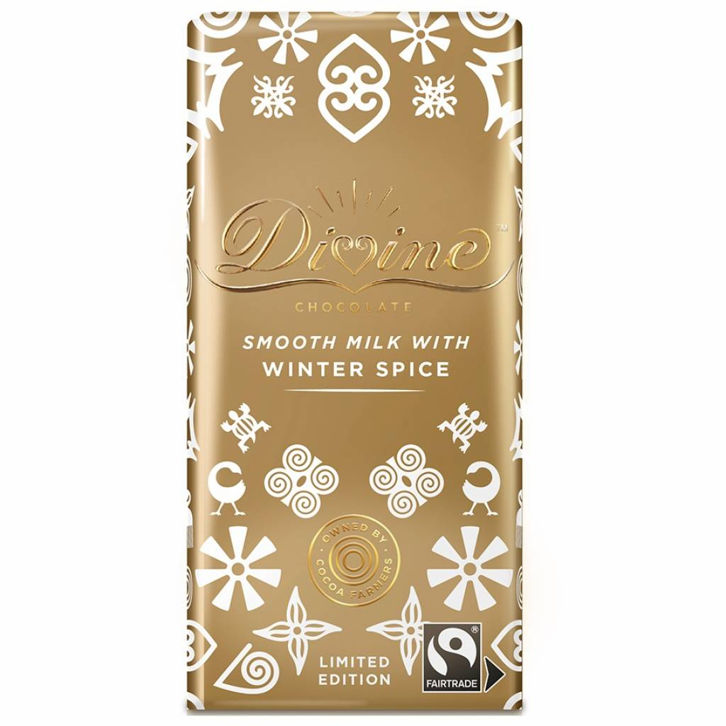 Divine Milk Chocolate with Winter Spice (100g) gallery image #1