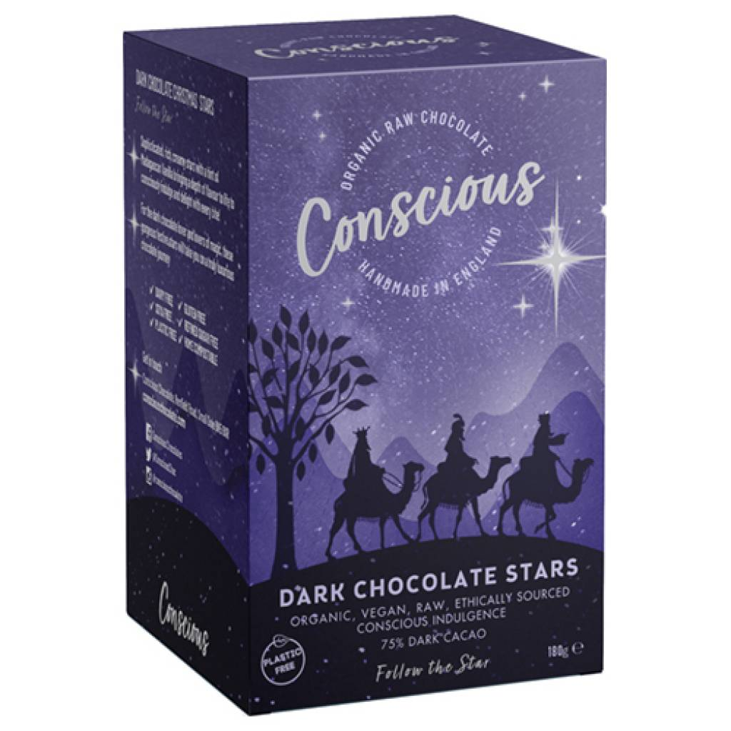 Conscious Dark Chocolate Stars (180g) gallery image #1
