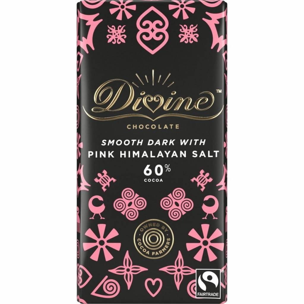 Divine Dark Chocolate with Pink Himalayan Salt (100g) gallery image #1