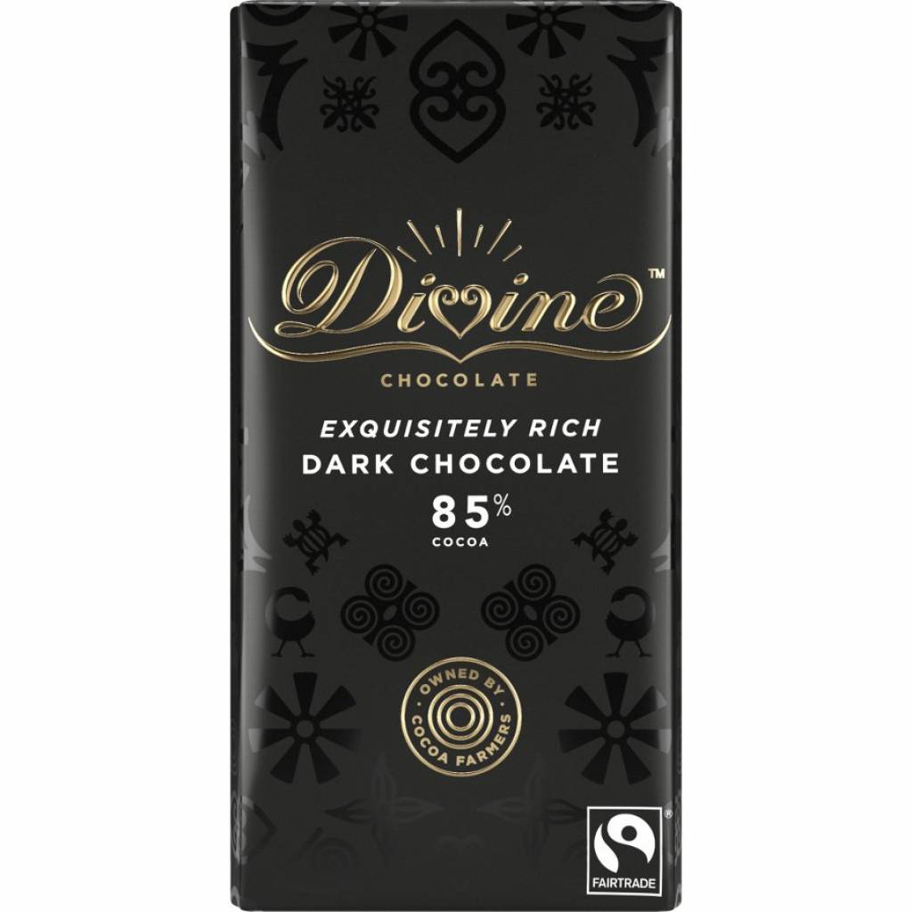 Divine Dark Chocolate 85% (100g) gallery image #1