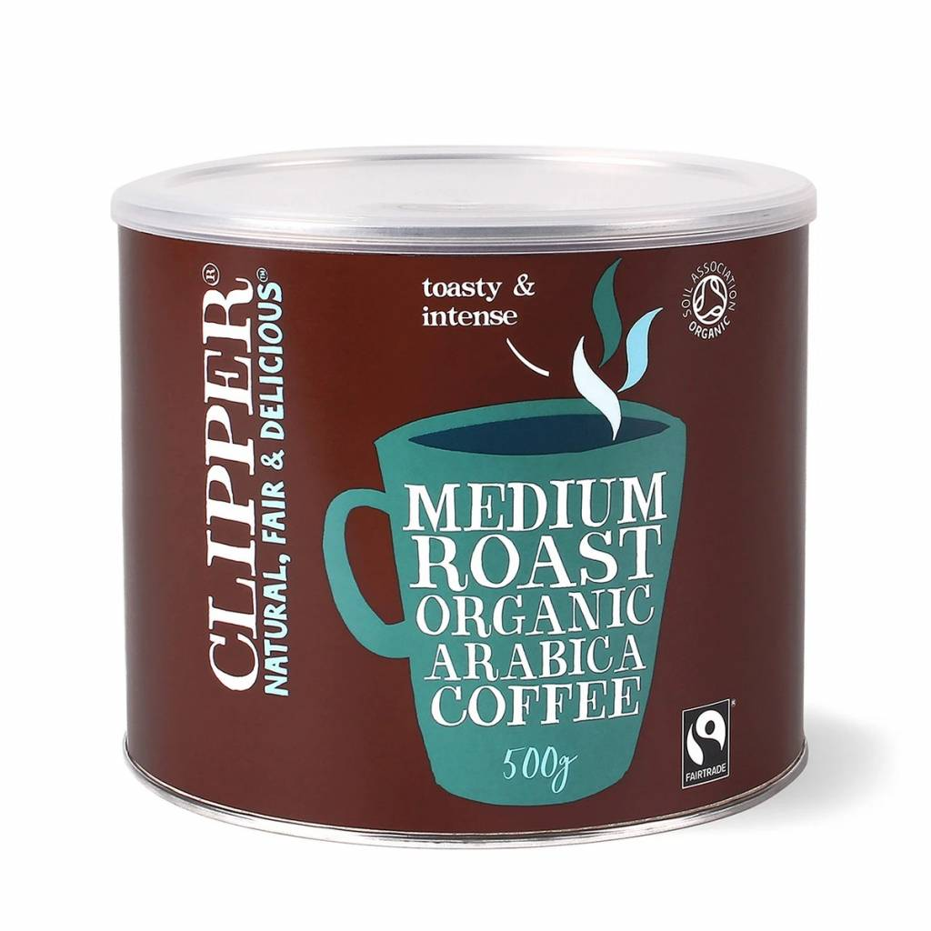 Clipper Arabica Roast Medium Coffee 500g gallery image #1