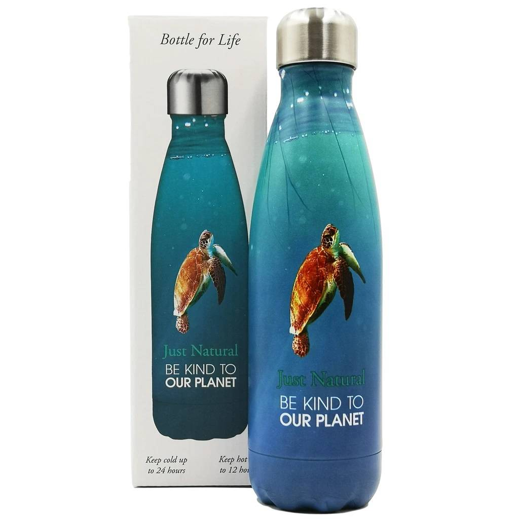 Just Natural Be Kind To Our Planet Bottle - Turtle gallery image #1
