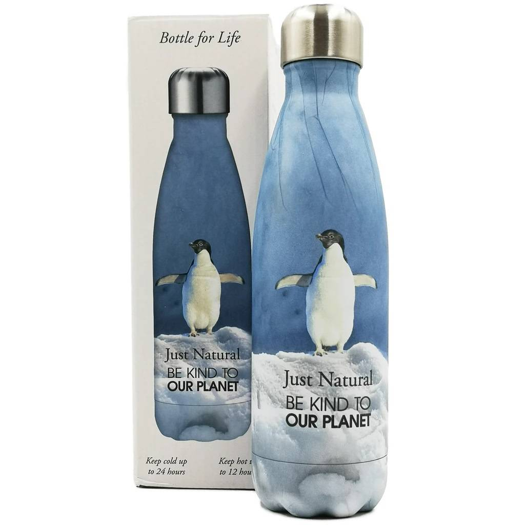Just Natural Be Kind To Our Planet Bottle - Penguin gallery image #1