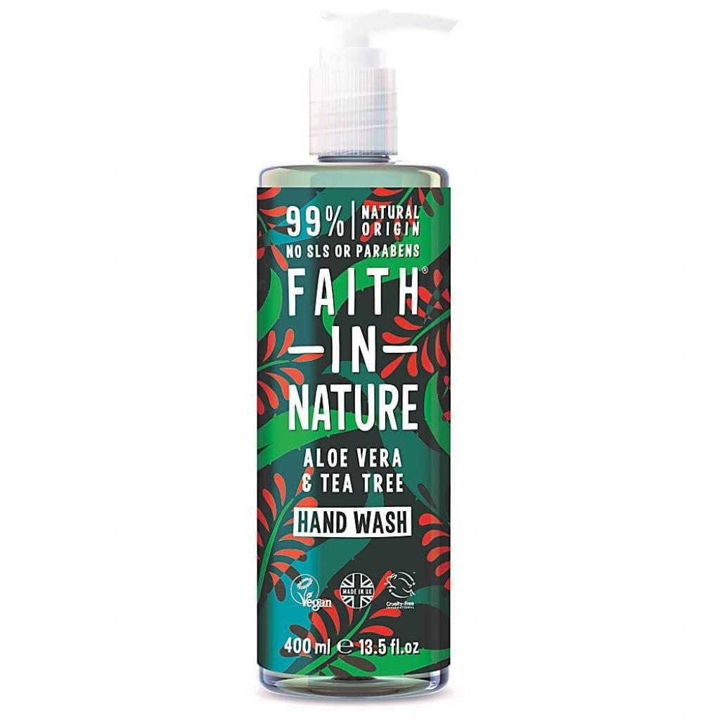 Faith in Nature Aloe Vera & Tea Tree Hand Wash 400ml gallery image #1