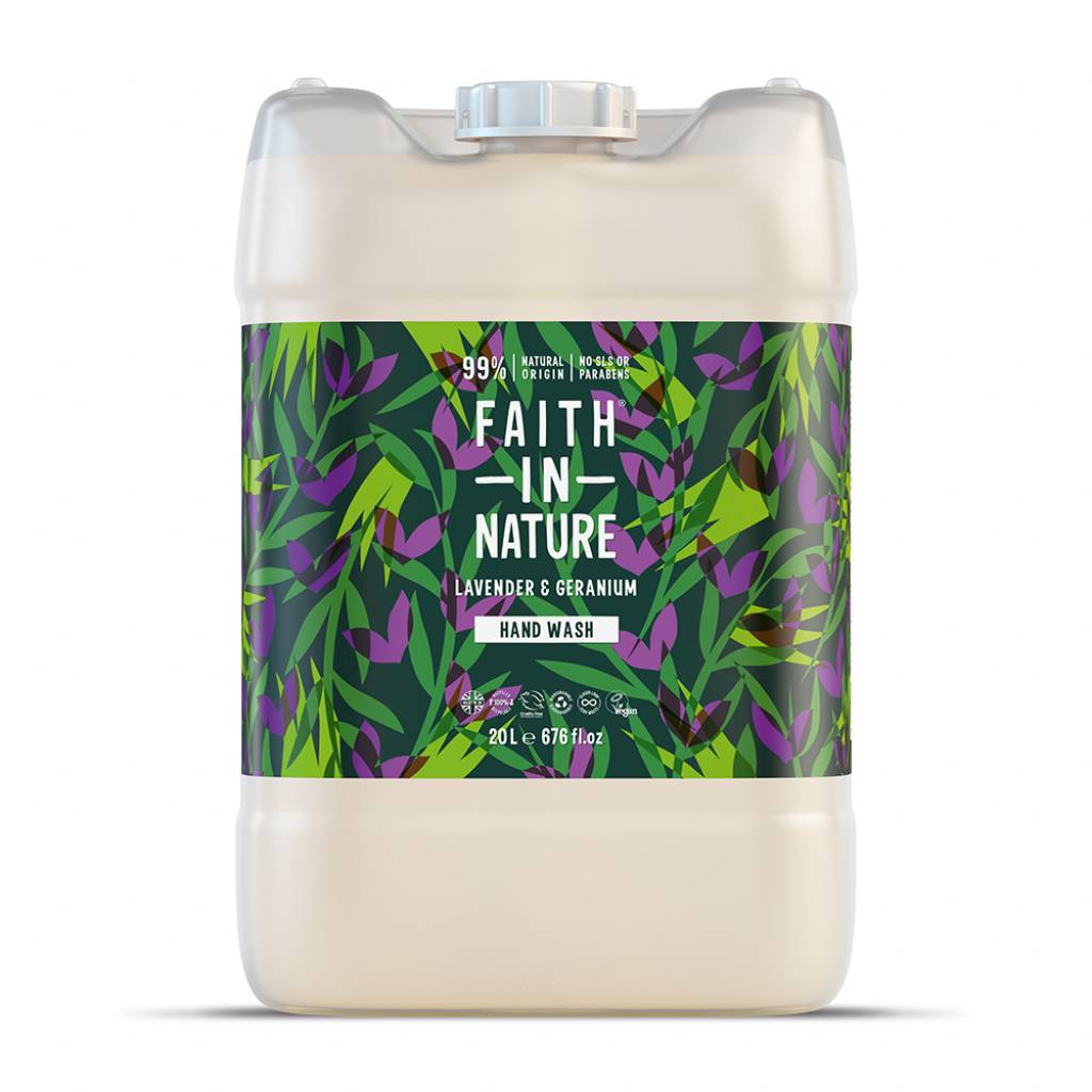 Faith in Nature Lavender & Geranium Hand Wash 20L gallery image #1