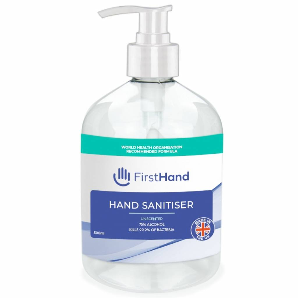 First Hand 75% Alcohol Hand Sanitiser (500ml) gallery image #1