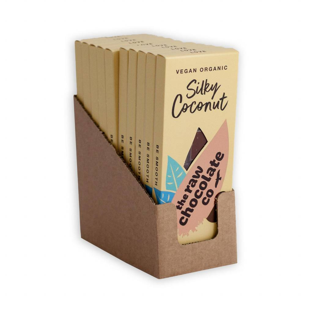 The Raw Chocolate Co - Silky Coconut Bar (38g) gallery image #3