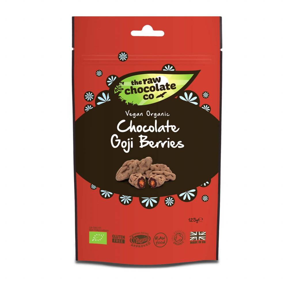 The Raw Chocolate Co - Raw Chocolate Goji Berries Pouch (125g) gallery image #1