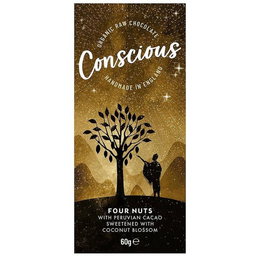 Conscious Chocolate Four Nuts (60g) gallery image #1
