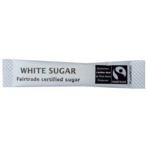 Fairtrade White Sugar Sticks (1000) main thumbnail image
