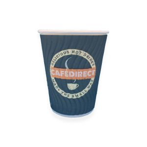 CafeDirect Branded Disposable 8oz Double Wall Cups main thumbnail