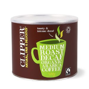 Clipper Fairtrade Medium Roast Decaf Instant Coffee (4x500g) main thumbnail