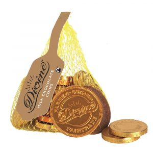 Divine Fairtrade Milk Chocolate Coins (10x65g) main thumbnail
