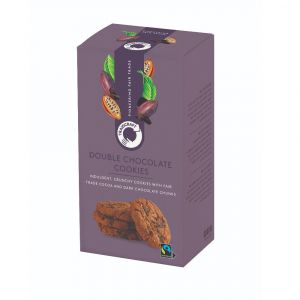 Traidcraft Double Chocolate Cookies (180g) main thumbnail