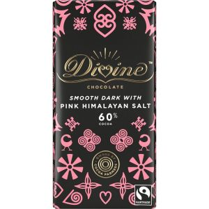 Divine Dark Chocolate with Pink Himalayan Salt (100g) main thumbnail image