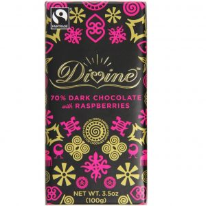 Divine Dark Chocolate with Raspberries (100g) main thumbnail image